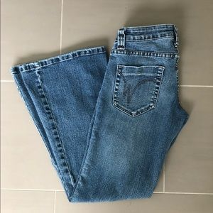 Wet Seal flare bottom jeans
